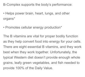 B complex description